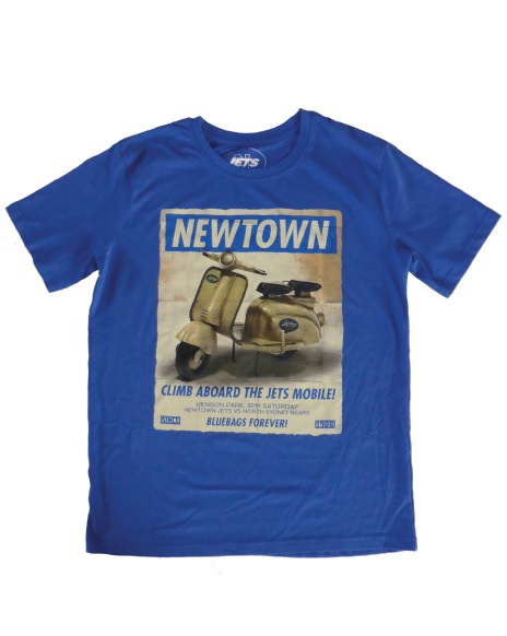 'The Jets Mobile' T-Shirt (Avail. blue and black, various sizes)