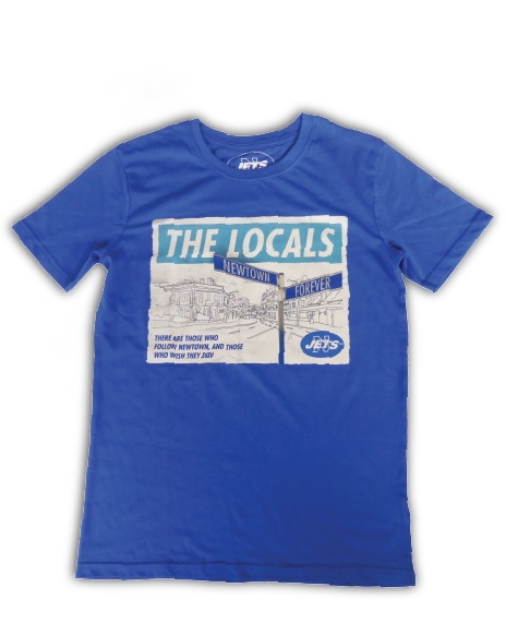 'The Locals' T-Shirt (Avail. blue and black, various sizes)